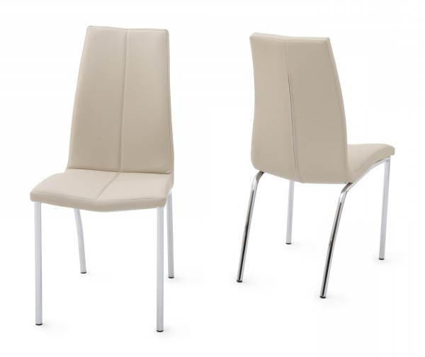 Ada Cream Leather Dining Chair Inside Most Recent Cream Leather Dining Chairs (View 3 of 20)