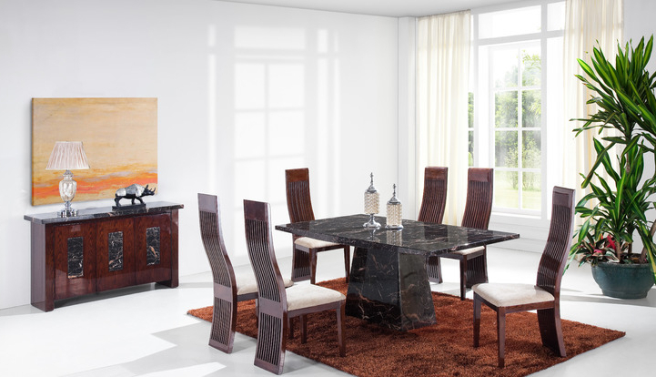 Adelaide 1.8M Solid Marble Dining Table And 4 Chairs (Gallery 1 of 20)