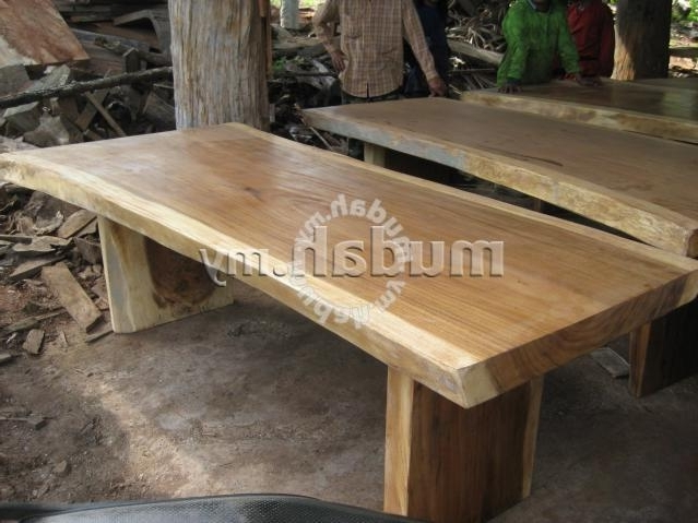 Aipj Acacia Raintree Wood Slab Dining Table – Furniture & Decoration Pertaining To Popular Acacia Dining Tables (View 12 of 20)