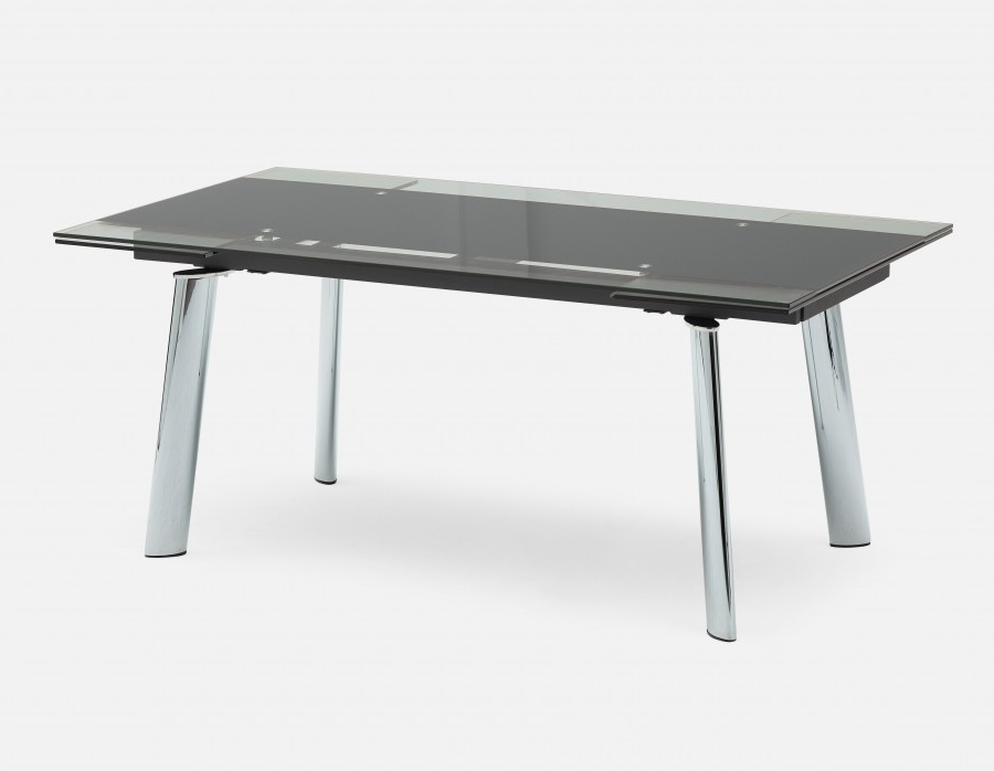 Ako Glass Extendable Dining Table (View 3 of 20)