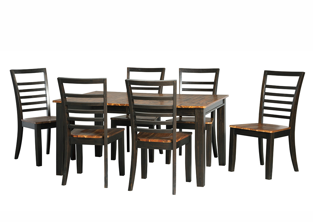 Alabama Furniture Market Quinley Two Tone Brown Rectangular Dining Inside Well Known Market 6 Piece Dining Sets With Side Chairs (View 3 of 20)