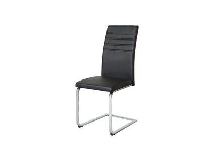 Alcora Dining Chair In Black (Pair) (Gallery 1 of 20)