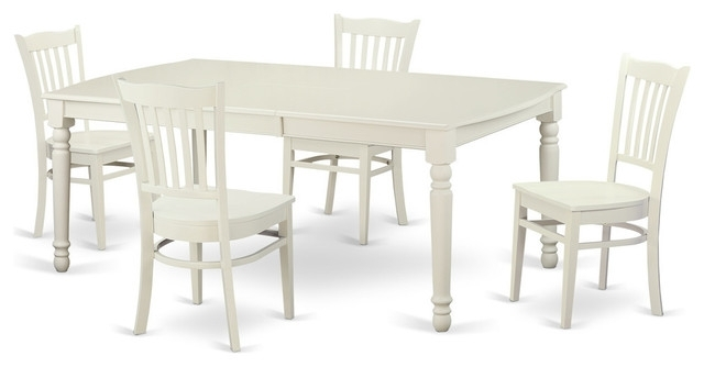 Alexa Rectangular Dining Table Set, White – Traditional – Dining Within Current Carly Rectangle Dining Tables (View 4 of 20)