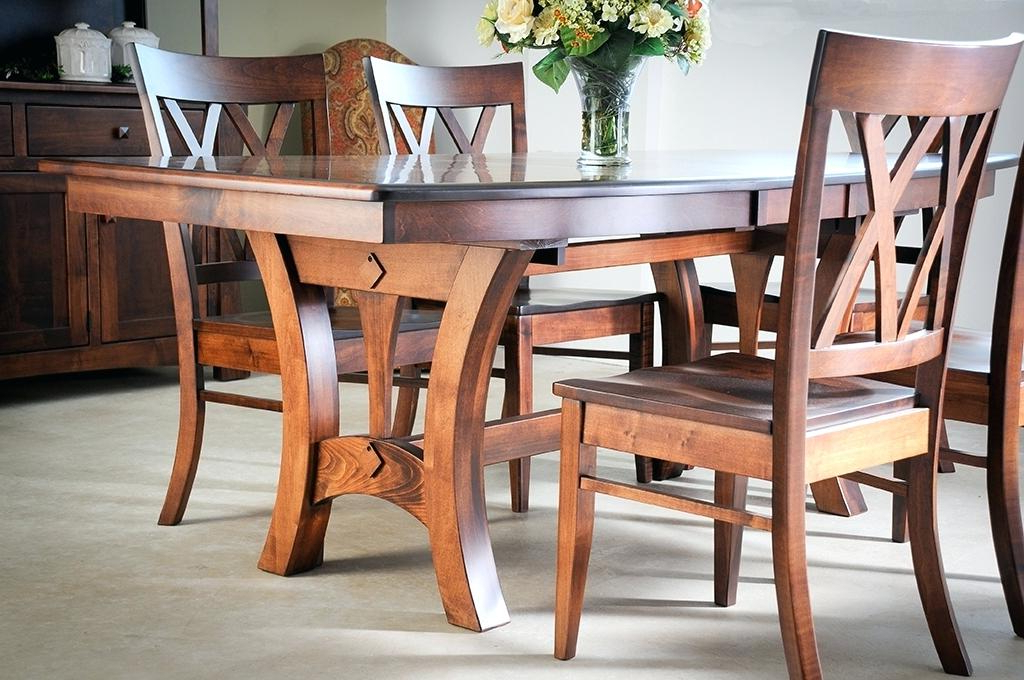 All Wood Dining Table – Tigerbytes With Fashionable Helms 7 Piece Rectangle Dining Sets With Side Chairs (View 3 of 20)