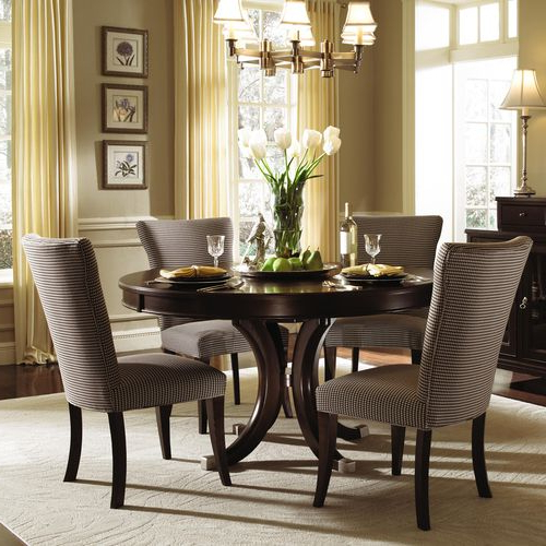 "Alston Round Pedestal Dining Table & Chairskincaid 54"" $1,513 In Most Recently Released Pedestal Dining Tables And Chairs (View 4 of 20)"