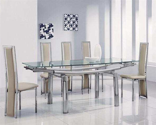 Amazing Extending Glass Dining Table And Chairs (View 2 of 20)