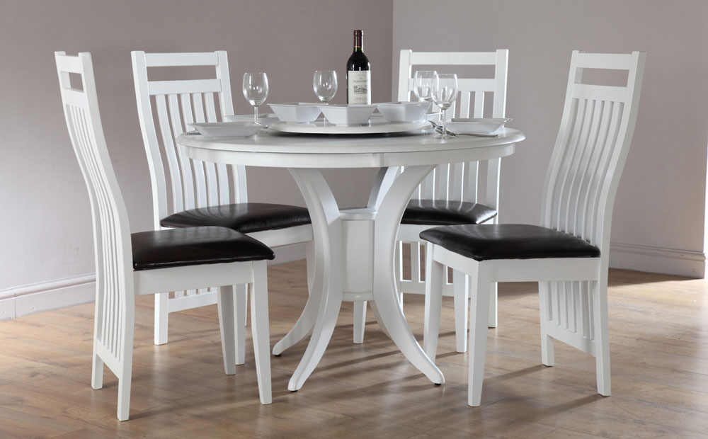 Amazing Of Small White Dining Table And Chairs Nice White Dining For Fashionable Small Round White Dining Tables (Gallery 8 of 20)