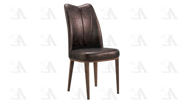 American Eagle D519 Dark Brown Pu Leather Dining Chair Set Of 2 Intended For Well Known Dark Brown Leather Dining Chairs (View 2 of 20)