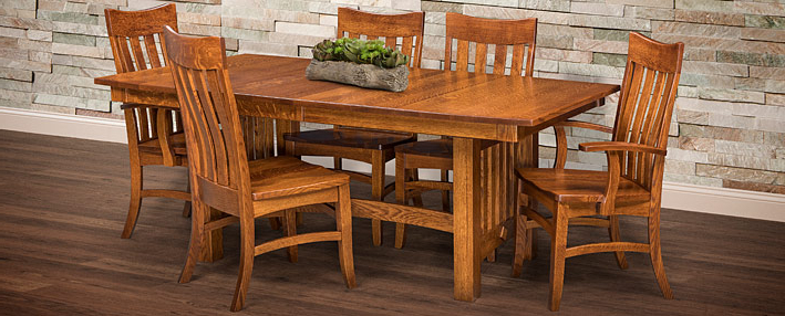 Amish Dining Room Tables & Chairs Sets – Mission Style (View 1 of 20)