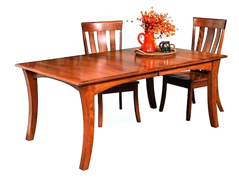 Amish Furniture: Hand Crafted, Solid Wood Dining Leg Tables Regarding 2018 Chandler Extension Dining Tables (View 3 of 20)