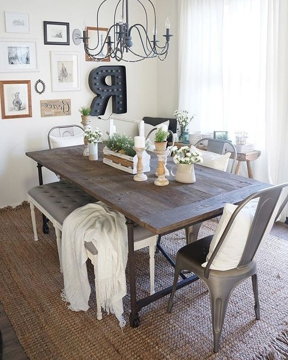 Amos 6 Piece Extension Dining Sets Within Most Recently Released 41 Rustic Farmhouse Dining Room Decor And Design Idea – (Gallery 11 of 20)