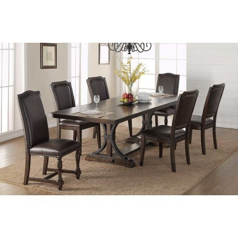 Amos 7 Piece Extension Dining Sets Intended For 2018 Lowell Extension Table (Gallery 18 of 20)
