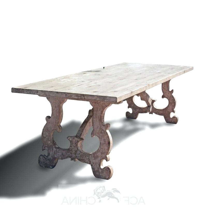 Antique French Country Dining Table Reclaimed Pinewood French Pertaining To Fashionable French Country Dining Tables (View 18 of 20)