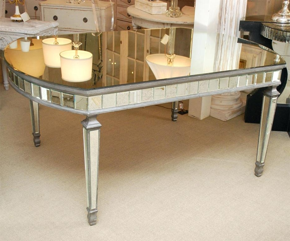 Antique Mirror Dining Tables Throughout Favorite Awesome Mirror Dining Table Pictures Dining Table With Antique (View 15 of 20)