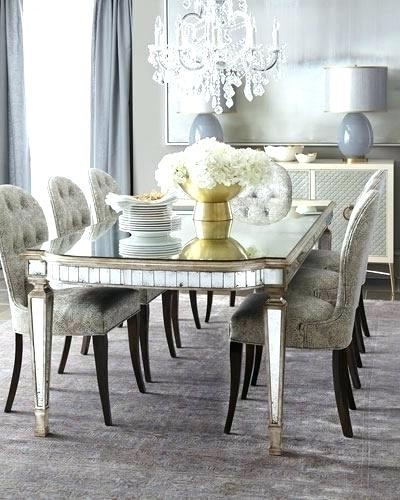 Antique Mirror Dining Tables Within Favorite Mirror Dining Table Small Mirror Dining Room Table Chair Antiqued (Gallery 8 of 20)