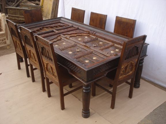 Antique Reproduction Dining Table & Chairs (View 1 of 20)