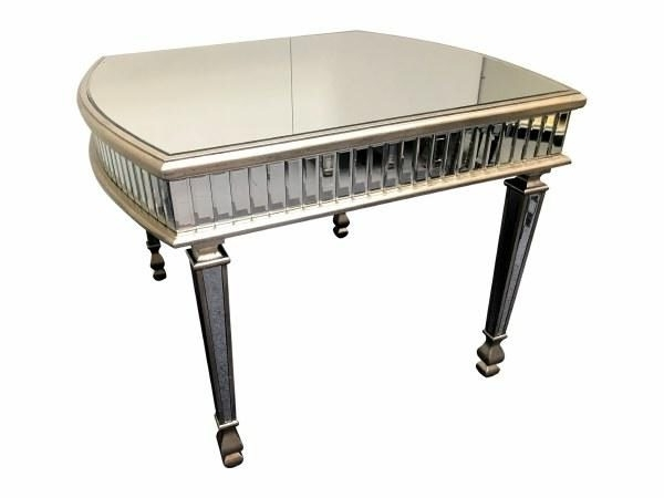 Antique Silver Mirrored Dining Table  Mirrored Dining Table  Antique For Widely Used Antique Mirror Dining Tables (View 4 of 20)