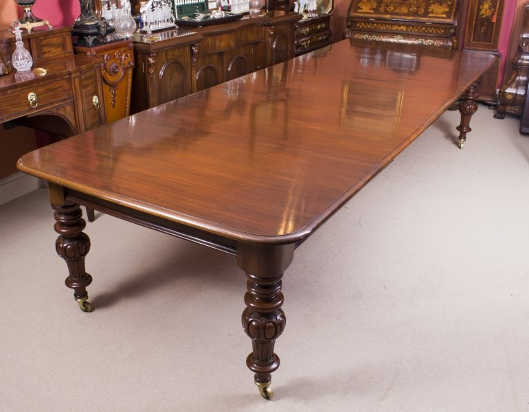 Antique Victorian Dining Table (View 4 of 20)