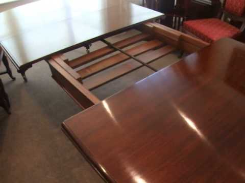 Antique Victorian Mahogany Extending Dining Table – Youtube Regarding Recent Mahogany Extending Dining Tables (View 5 of 20)