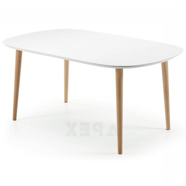 Apex Pertaining To Fashionable White Oval Extending Dining Tables (View 4 of 20)