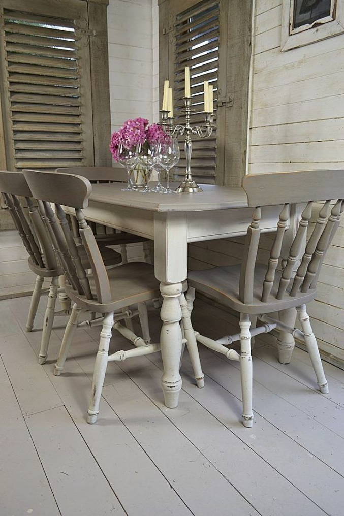 Architecture, Backyard With Regard To Shabby Chic Cream Dining Tables And Chairs (Gallery 8 of 20)