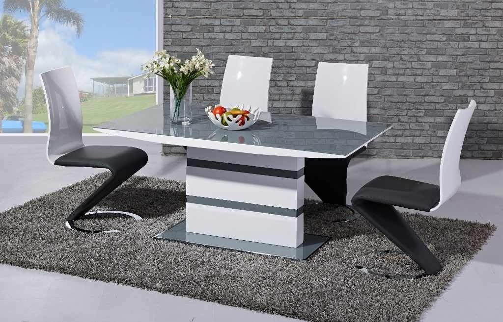 Arctic Dining Table With High Gloss Z Chairs – Home Living Within Well Known Black Gloss Dining Tables And 6 Chairs (View 1 of 20)