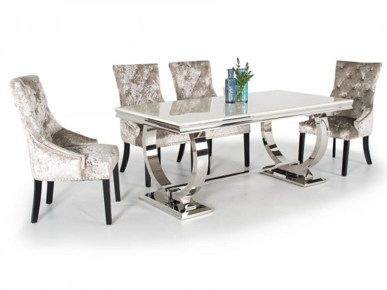 Arianna Cream 180cm Marble Dining Table Ari 180 Cr N (View 19 of 20)