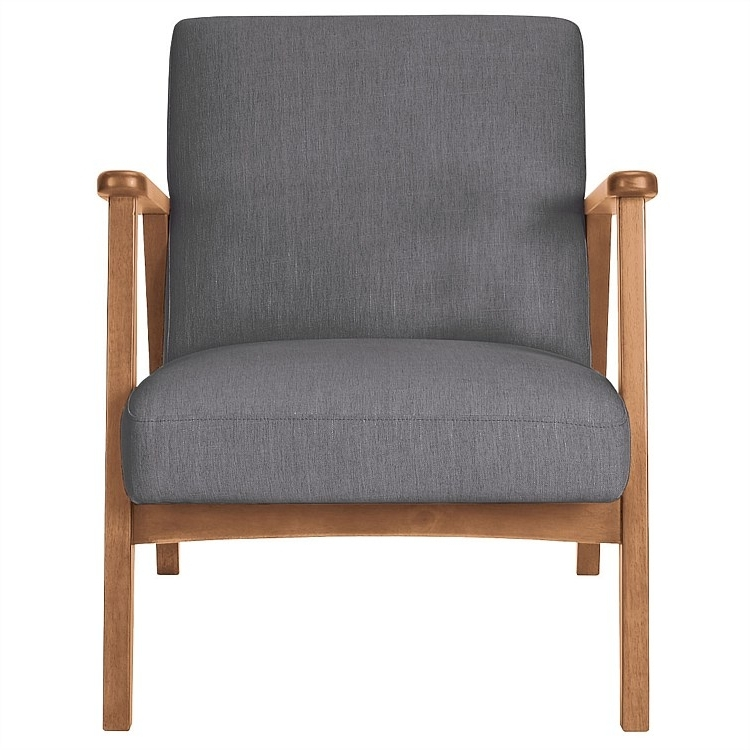 Armchairs And Occasional Chairs – Den Armchair (Oak Frame) Sky With Regard To Newest Caira Black Upholstered Arm Chairs (View 1 of 20)