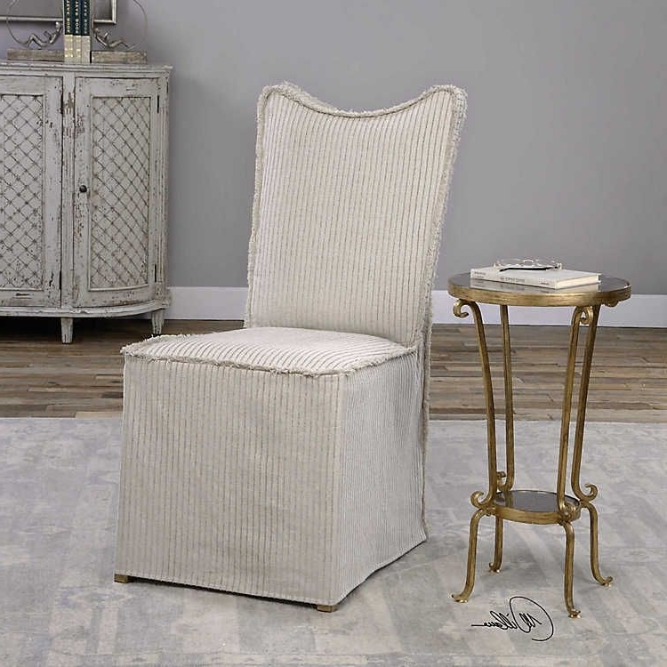 Armless Oatmeal Dining Chairs Intended For Most Recent Lenore Armless Chair, Set Of 2Uttermost (View 4 of 20)