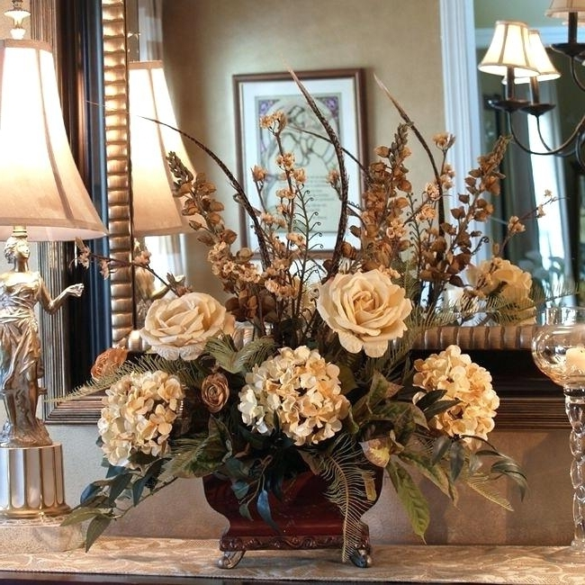 Artificial Floral Arrangements For Dining Tables For Most Popular 15. Floral Centerpieces For Dining Table Best Images About Floral (Gallery 5 of 20)