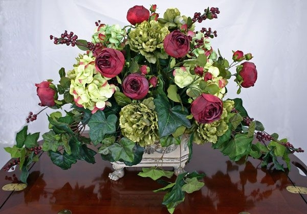 Artificial Floral Arrangements For Dining Tables In Recent 18 Excellent Silk Flower Arrangements For Dining Room Table Digital (Gallery 2 of 20)