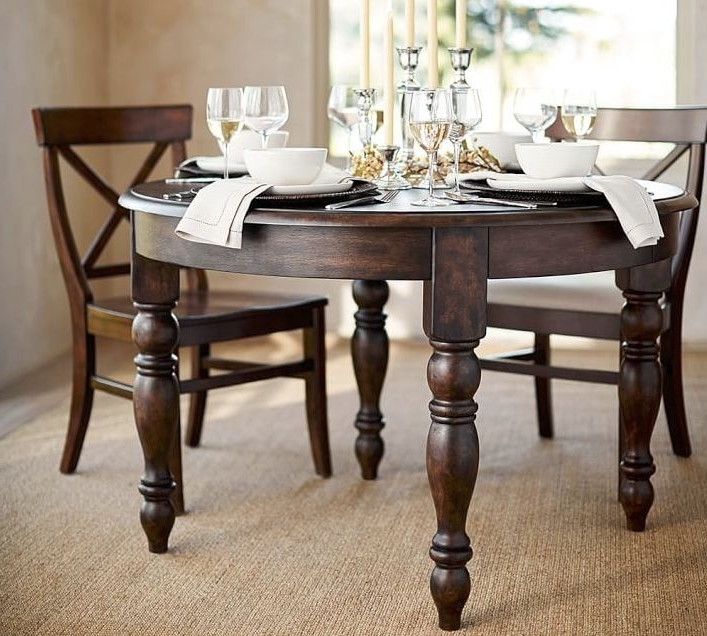 Artisanal Dining Tables Pertaining To Best And Newest Round Extending Kitchen Table – Klipon Kitchen (View 4 of 20)