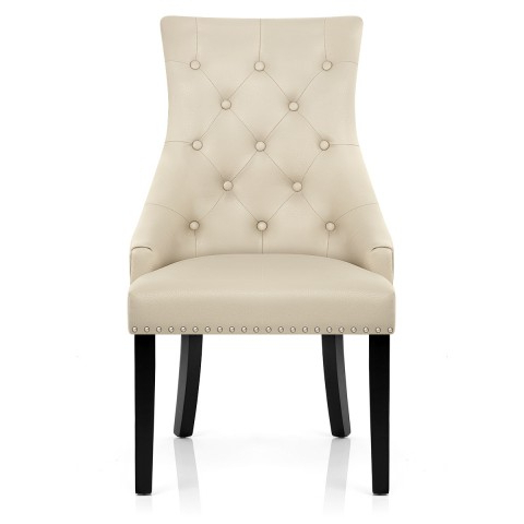 Ascot Dining Chair Cream Leather – Atlantic Shopping Regarding Best And Newest Leather Dining Chairs (Gallery 18 of 20)
