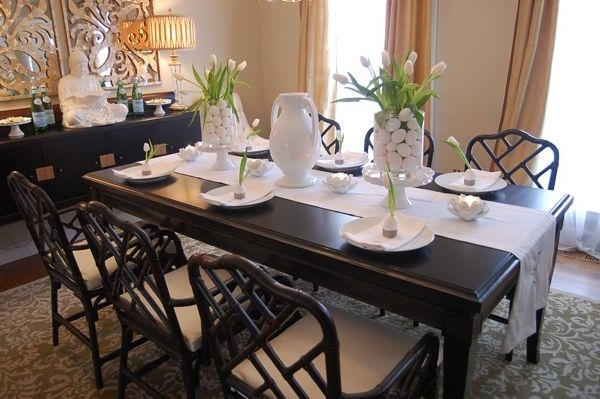 Asian Dining Tables With Regard To Trendy Easter Table Setting Ideas – Asian – Dining Room – Benjamin Moore (View 9 of 20)
