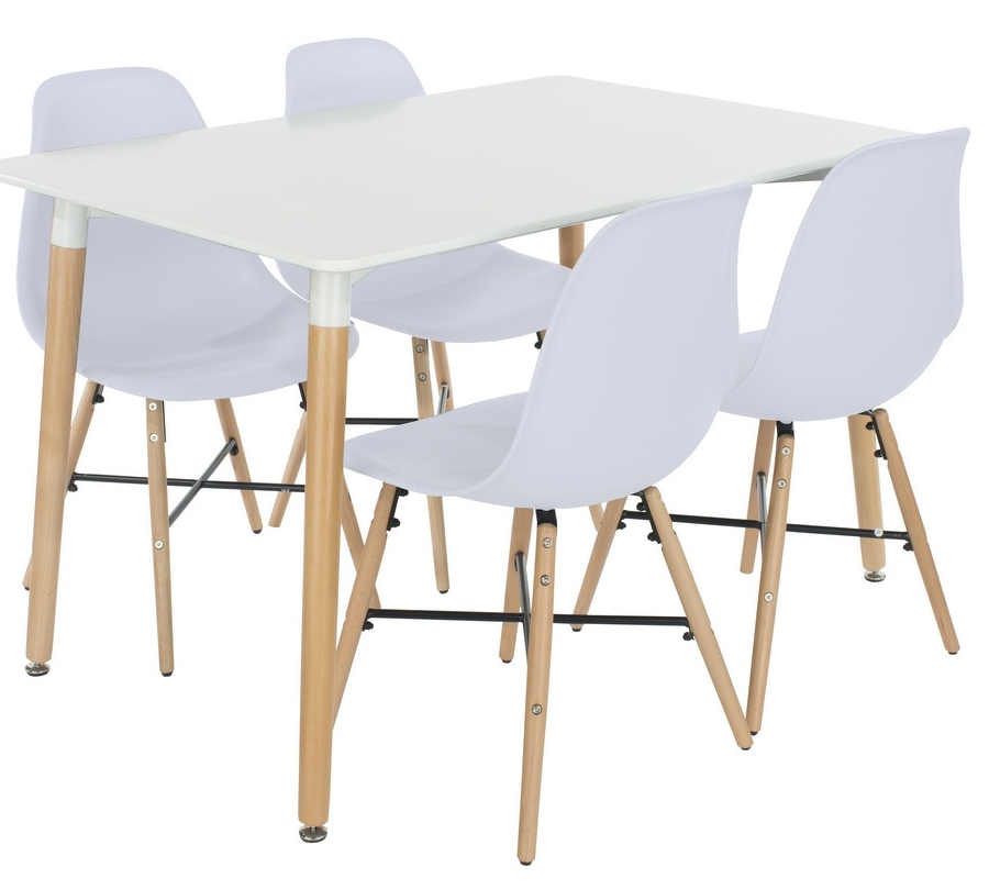 Aspen Dining Tables Intended For 2017 Abdabs Furniture – Aspen Rectangular White Dining Table With 4 (Gallery 11 of 20)