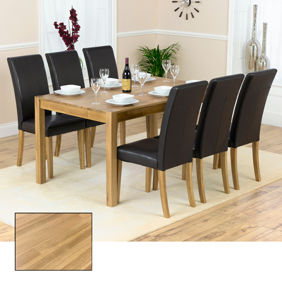 Atlanta Solid Oak Dining Table And 6 Atlanta Dining Chairs For Most Recently Released Solid Oak Dining Tables And 6 Chairs (Gallery 3 of 20)