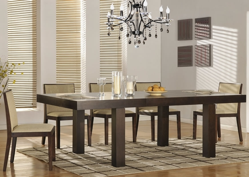 Attractive Modern Dining Room Sets — Bluehawkboosters Home Design Pertaining To Famous Contemporary Dining Tables Sets (View 1 of 20)