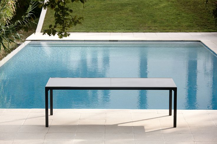 Aura Glass Extendable Dining Table – Couture Outdoor For Most Recently Released Outdoor Extendable Dining Tables (View 4 of 20)