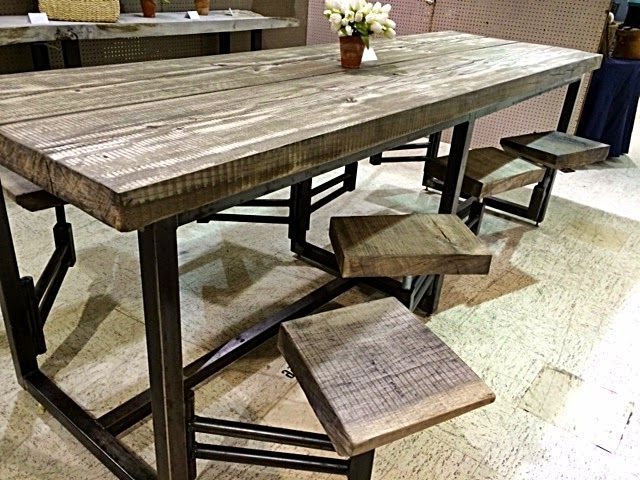 Featured Photo of Dining Tables With Attached Stools