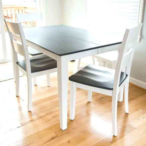 Awful Dining Table With Grey Wood Stained Top And White Legs Picture Regarding Newest Dining Tables With White Legs And Wooden Top (Gallery 20 of 20)