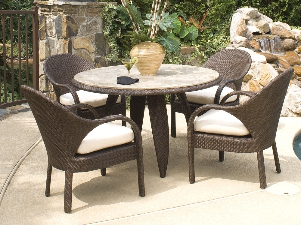 Bali Dining Sets Within Newest Whitecraftwoodard Bali Wicker 5 Piece Dining Set – Wicker (View 6 of 20)