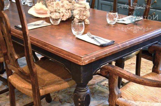 Barn House Dining Tables Intended For Trendy Black Farm House Dining Table Love Love Love The Old English Feel Of (View 5 of 20)