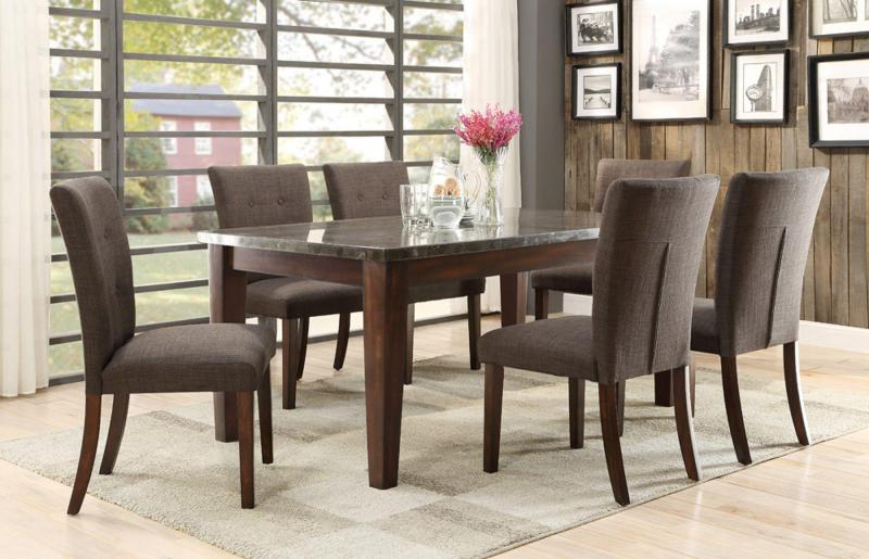 Barron's Furniture And Appliance – Regular Height Dining And Servers For Newest Market 6 Piece Dining Sets With Host And Side Chairs (View 7 of 20)