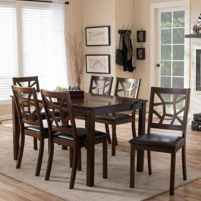 Baxton Studio – Kitchen & Dining Room Furniture – Furniture – The For Newest Laurent 7 Piece Counter Sets With Wood Counterstools (View 3 of 20)