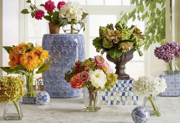 Beautiful Floral Centerpieces For Dining Tables For Warm And Eye With Regard To Best And Newest Artificial Floral Arrangements For Dining Tables (View 13 of 20)