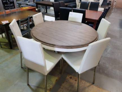 Beautiful Solid Timber / White Wash 6 Pc Dining Suite (View 5 of 20)