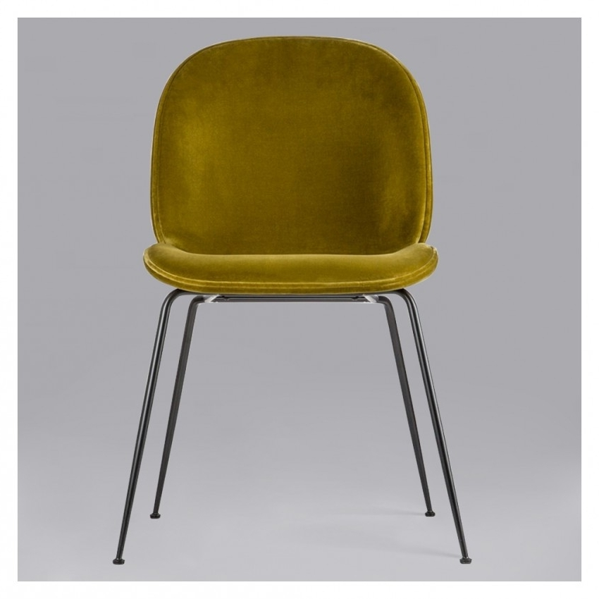 Beetle Chair Olive Green Velvet With Black Legs – The Conran Shop Regarding 2017 Dark Olive Velvet Iron Dining Chairs (View 8 of 20)