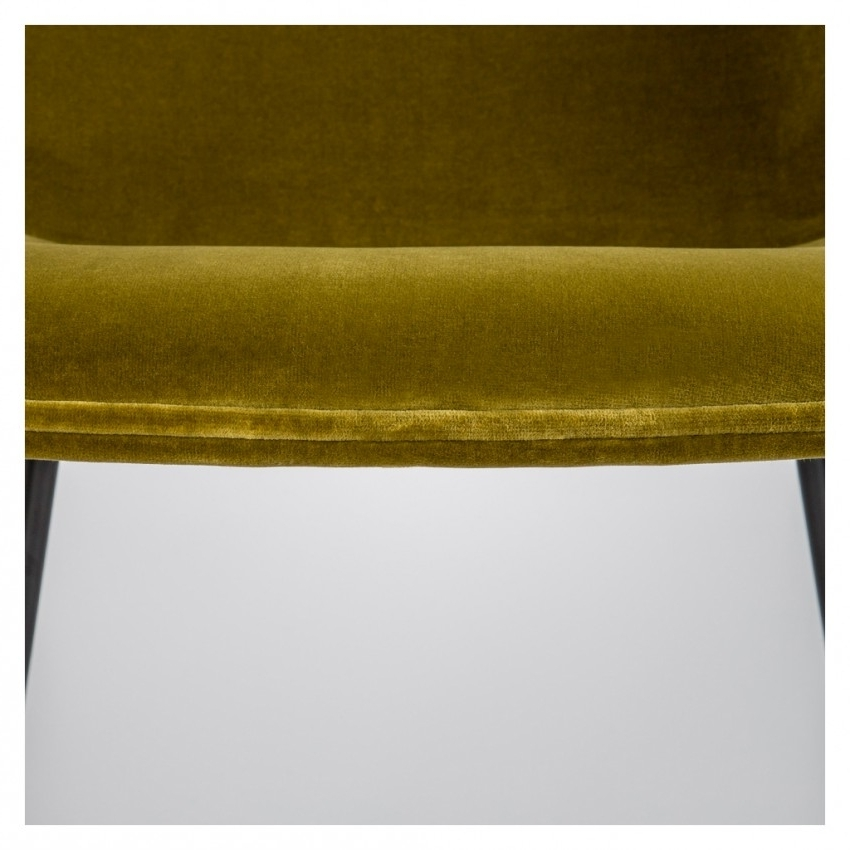 Beetle Chair Olive Green Velvet With Black Legs – The Conran Shop With Regard To Recent Dark Olive Velvet Iron Dining Chairs (View 3 of 20)