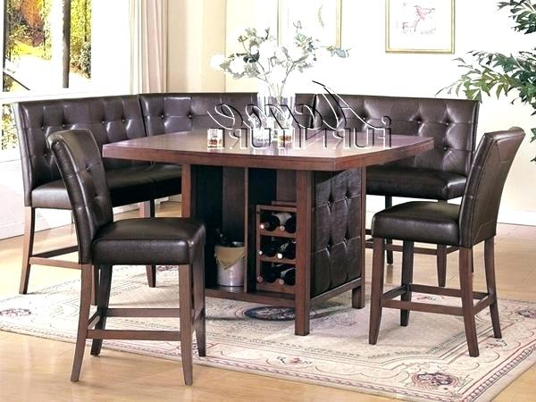 Bennox Counter Height Dining Room Table And Bar Stools Set Of 5 Within Famous Hyland 5 Piece Counter Sets With Bench (Gallery 13 of 20)