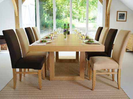 Bespoke Contemporary Tables Throughout Oak Dining Suites (View 8 of 20)
